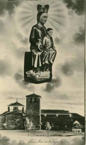 Estampita de la Virgen de la Vega